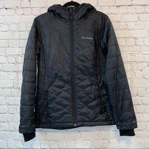 Columbia Omni Heat Black Full Zip Hooded Coat